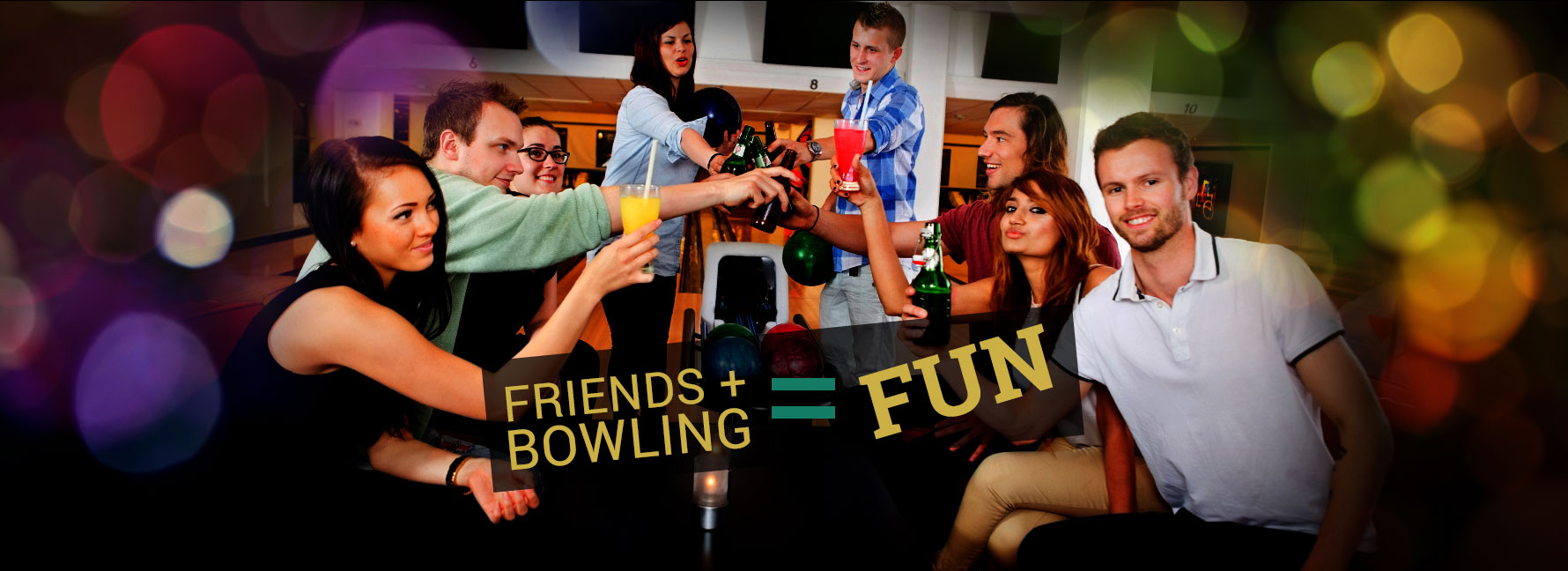 Friends and Bowling means Fun